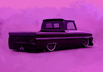 Low Rider Painting - 1964 Chevy Low Rider by Brian Reaves