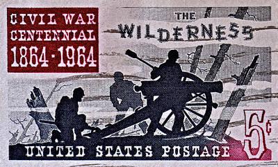 Photograph - 1964 Civil War Wilderness Stamp by Bill Owen
