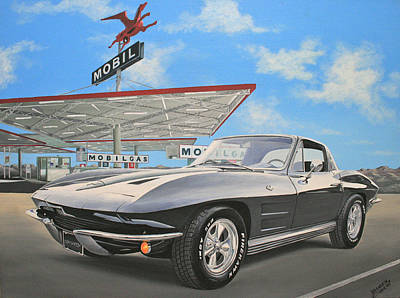 Painting - 1964 Corvette by Branden Hochstetler