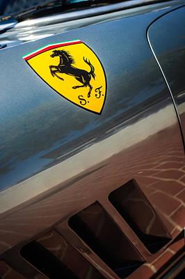 Photograph - 1964 Ferrari 275 Gtb-c Speciale Emblem -0352c by Jill Reger