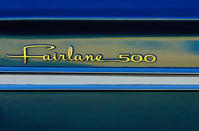 1964 Ford Emblem Photograph - 1964 Ford Fairlane 500 Emblem by Jill Reger