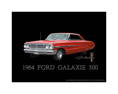 The 500 Photograph - 1964 Ford Galaxie 500 by Jack Pumphrey