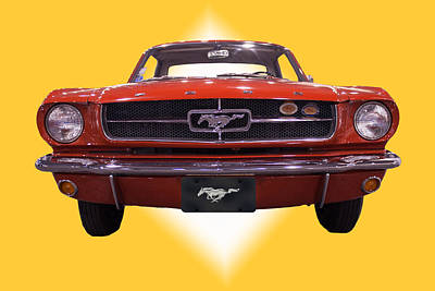 1964 Ford Mustang Art Print by Michael Porchik