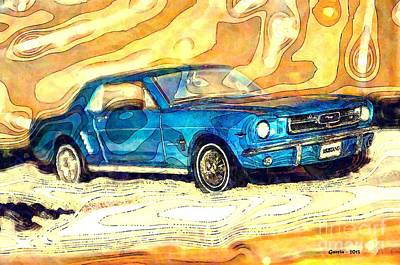 Photograph - 1964 Ford Mustang by Phillip Garcia
