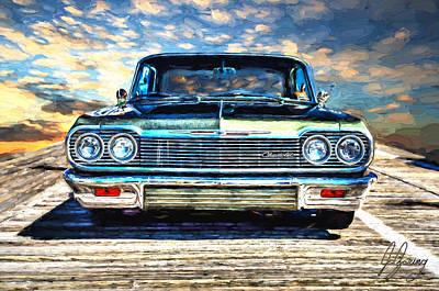 Street Rod Mixed Media - 1964 Impala Sunrise by Joshua Zaring