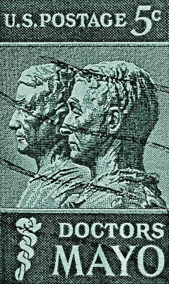 Photograph - 1964 Mayo Brothers Stamp by Bill Owen