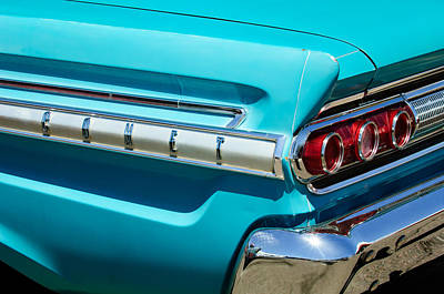 1964 Photograph - 1964 Mercury Comet Taillight Emblem by Jill Reger