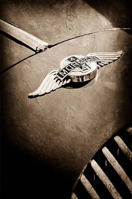 Photograph - 1964 Morgan 44 Hood Emblem by Jill Reger