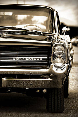 Photograph - 1964 Pontiac Bonneville In Sepia by Gordon Dean II