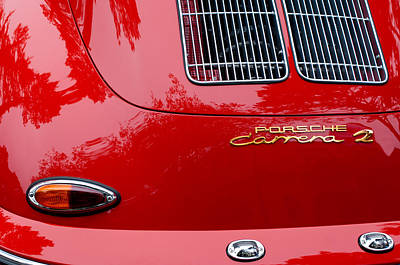 1964 Photograph - 1964 Porsche 356 Carrera 2 Taillight Emblem by Jill Reger