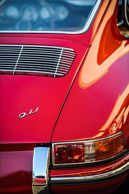 Photograph - 1964 Porsche 911 Taillight Emblem -1391c by Jill Reger