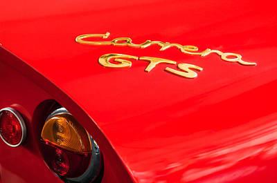1964 Porsche Carrera Gts Taillight Emblem Art Print by Jill Reger