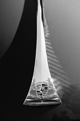 64 Photograph - 1964 Porsche Hood Emblem by Jill Reger