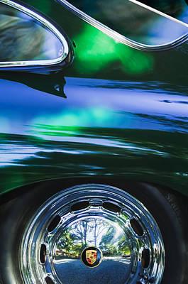 1964 Porsche Wheel Emblem Art Print