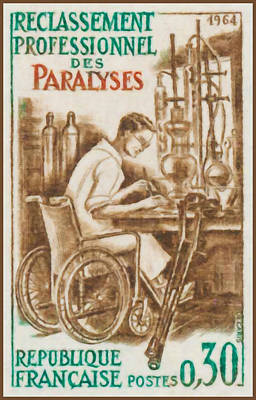 Wheelchair Painting - 1964 Reclassification Professional Paralyzed by Lanjee Chee