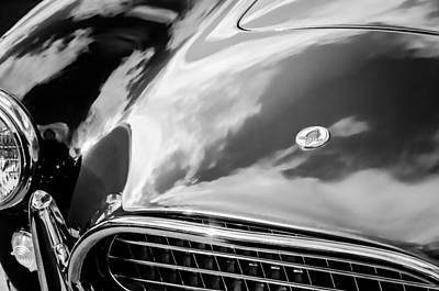 Photograph - 1964 Shelby 289 Cobra Grille -0840bw by Jill Reger