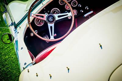 1964 Shelby Cobra 289 Steering Wheel Art Print by Jill Reger