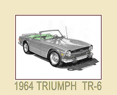 Sports Royalty-Free and Rights-Managed Images - 1964 Triumph T R 6 by Jack Pumphrey