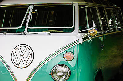 1964 Volkswagen Vw Samba 21 Window Bus Print by Jill Reger