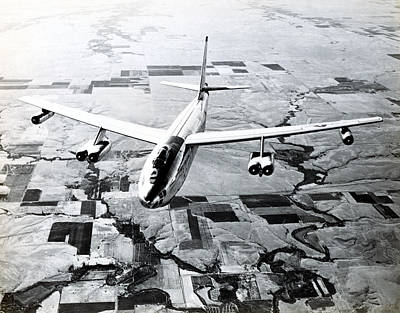 Photograph - 1965 Air Force B-47 In Flight by Historic Image
