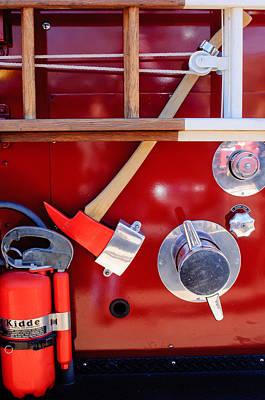 1965 American Lafrance Fire Truck  Art Print by Jill Reger