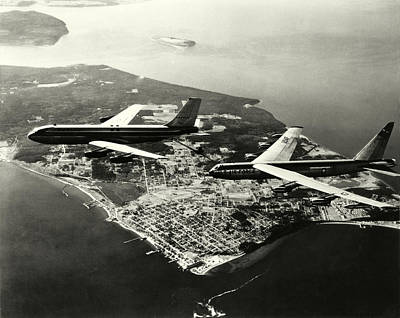 Photograph - 1965 Refueling Usaf B-52 Bomber by Historic Image