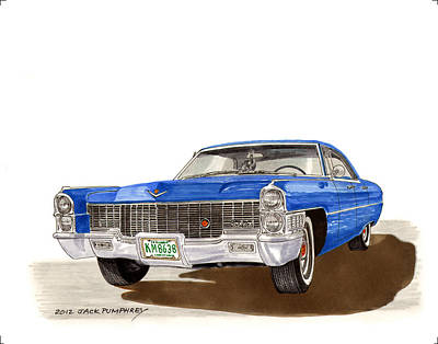 1965 Cadillac Deville Sedan Art Print by Jack Pumphrey