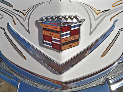 1965 Cadillac Hood Emblem Art Print by Bill Owen