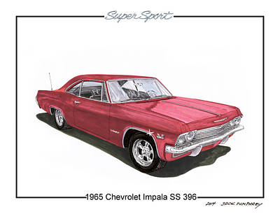 Big 3 Painting - 1965 Chevrolet Impala S S 396 by Jack Pumphrey