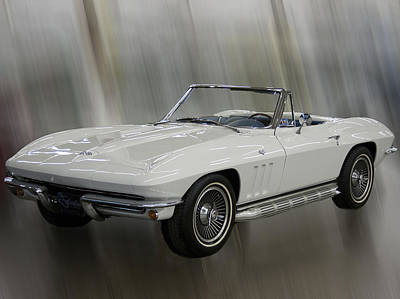 Art Print featuring the photograph 1965 Chevy Corvette by B Wayne Mullins