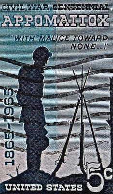 1965 Civil War Centennial Stamp Art Print by Bill Owen