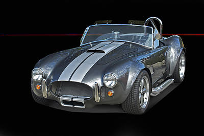 The Playroom - 1965 Cobra Isolated on Black by Dave Koontz