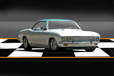 Featured Tapestry Designs - 1965 Corvair Corsa Turbo by Dave Koontz
