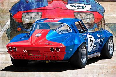 Photograph - 1965 Corvette Rear View by Stuart Row