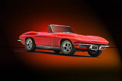 Firefighter Patents - 1965 Corvette Roadster in Red by Dave Koontz