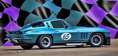 Race Car Photograph - 1965 Corvette by Sylvia Thornton