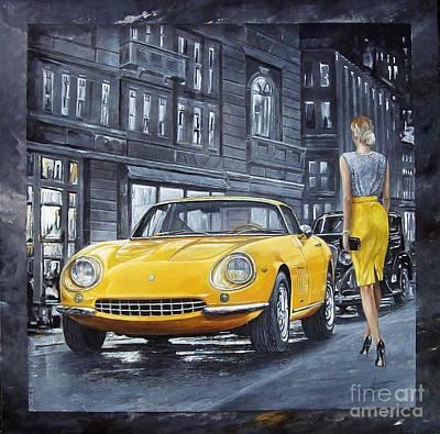 Painting - 1965 Ferrari 275 Gtb by Sinisa Saratlic