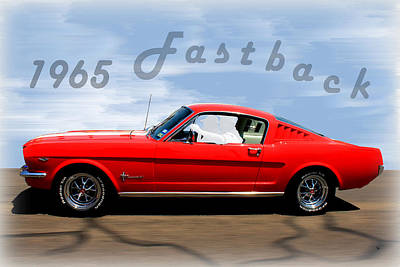 Photograph - 1965 Ford Mustang Fastback by Betty Northcutt