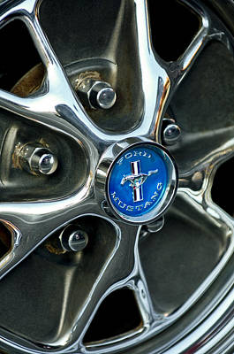1965 Ford Mustang Photograph - 1965 Ford Mustang Wheel Rim by Jill Reger