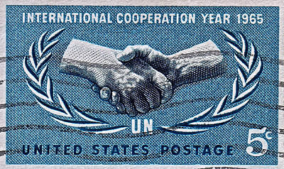 Photograph - 1965 International Cooperation Year Stamp by Bill Owen