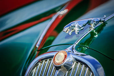 Photograph - 1965 Jaguar S-saloon Hood Ornament - Emblem -1220c by Jill Reger