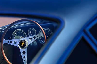 Photograph - 1965 Lamborghini 350 Gt Steering Wheel by Jill Reger