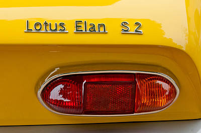 1965 Lotus Elan S2 Taillight Emblem Art Print by Jill Reger
