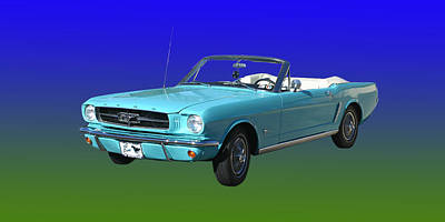 Photograph - 1965 Mustang Convertible by Jack Pumphrey