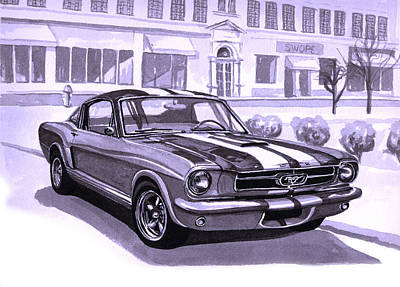1965 Ford Mustang Painting - 1965 Mustang Fastback by Neil Garrison
