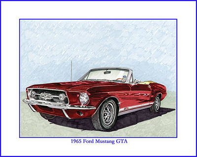 Painting - 1965 Mustang G T A Convertible by Jack Pumphrey