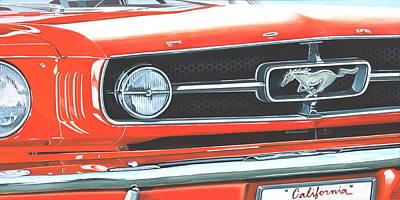 Painting - 1965 Mustang Gt  by Branden Hochstetler