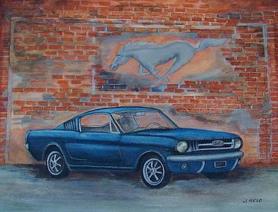 1965 Mustang Art Print by Jane Landry  Read