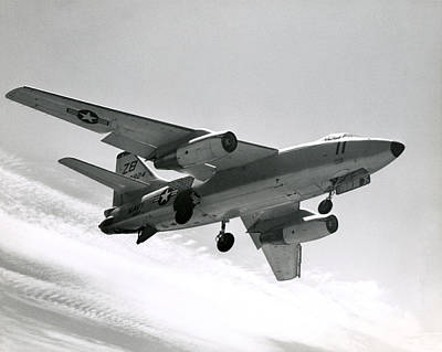 Photograph - 1965 Navy A3d Skywarrior by Historic Image