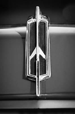 Photograph - 1965 Oldsmobile 442 Hood Emblem -0096bw by Jill Reger